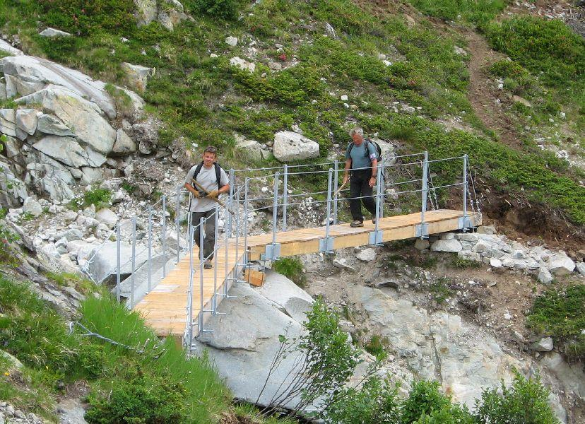 Passerelle  - photo Stéphane D'houwt - Parc national des Ecrins