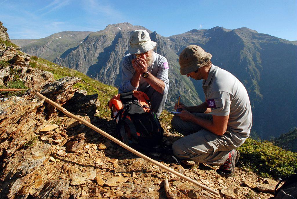 La connaissance et le suivis des patrimoines naturels du Parc national, au quotidien des agents du Parc national © Christophe Albert/PNE