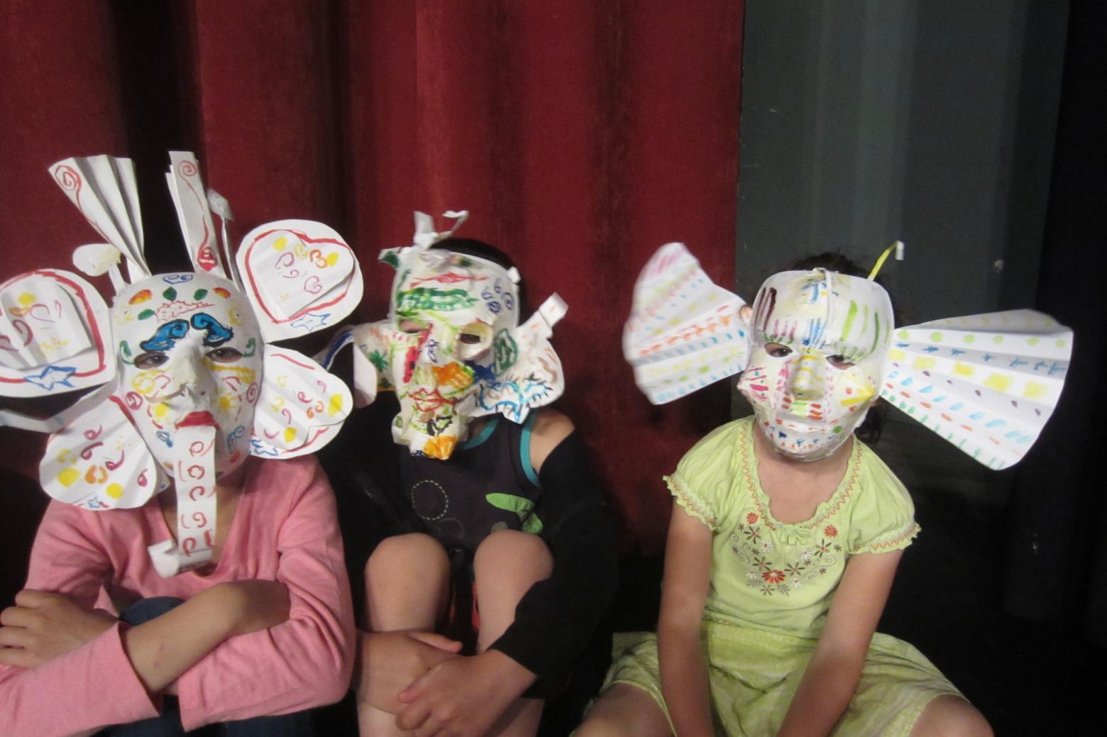 Masque imaginaires - école La Bessée - 2014-2015