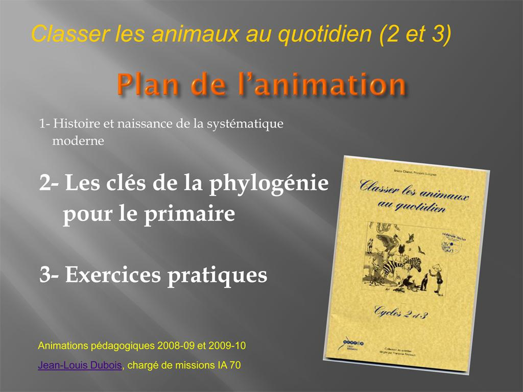 Classification animaux - doc PNE