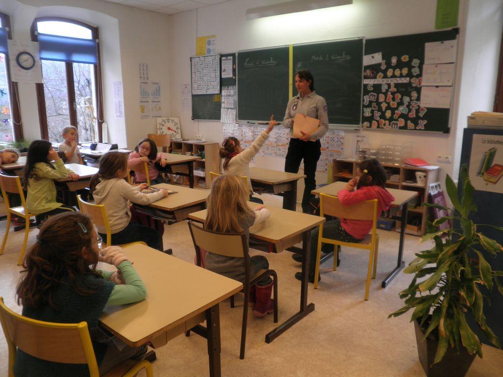 intervention pédagogique - école de Pelvoux - 2014-2015 - Parc national des Ecrins