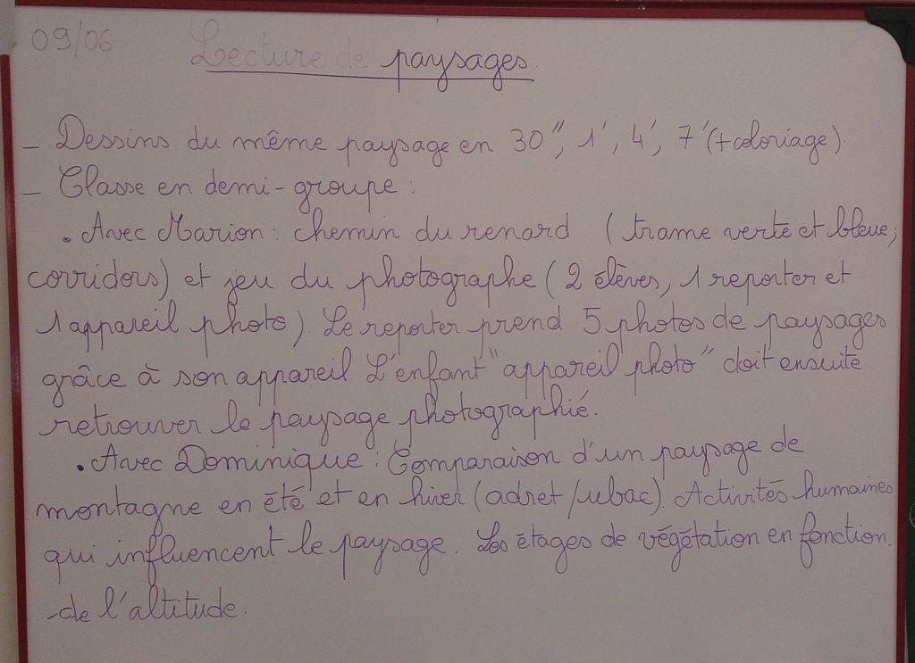 arbres et paysage - projet pédagogique 2014-2015- école saint-Firmin - Parc national des Ecrins