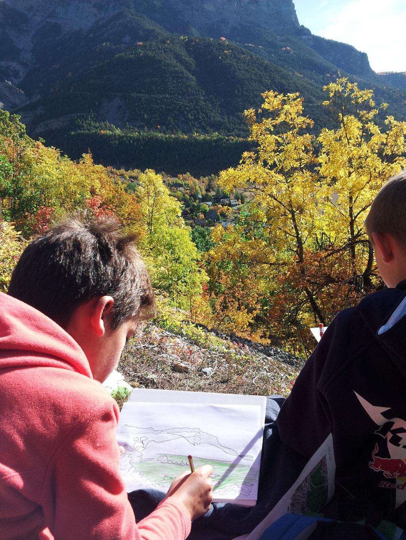 sortie automne 2017 - école Pelvoux-Vallouise - © C. Albert - Parc national des Ecrins