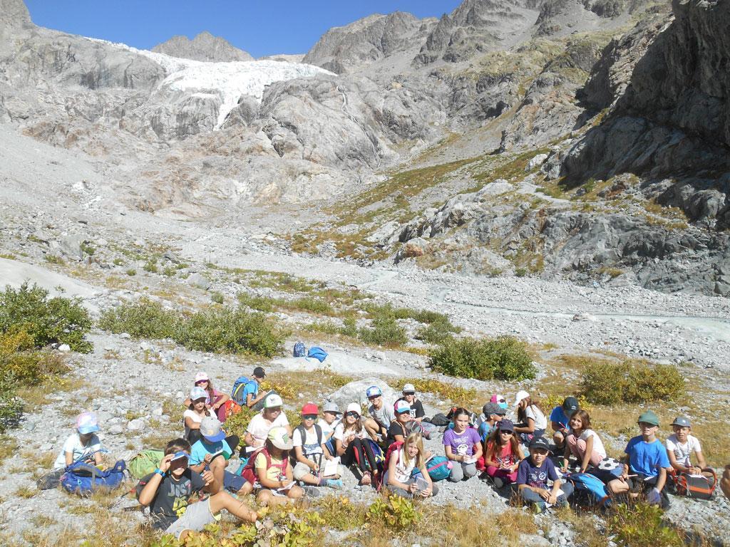 Sortie au glacier Blanc pour CM de Vallouise, sept 2019