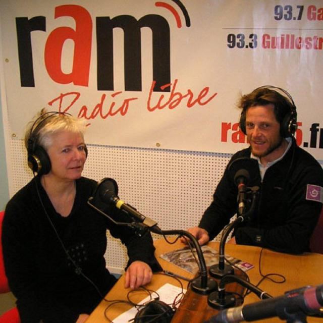 Anne-Chantal Descamp (journaliste à la RAM) et Cyril Coursier (technicien patrimoine au Parc national des Ecrins) - © DR