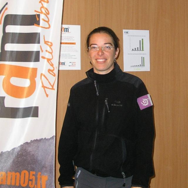 Blandine Delenatte, garde-monitrice du parc national des Ecrins © RAM