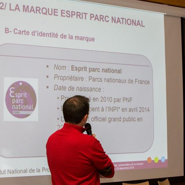Présentation de la marque au CESC du Parc national des Ecrins - décembre 2014 - © P.Saulay /PNE
