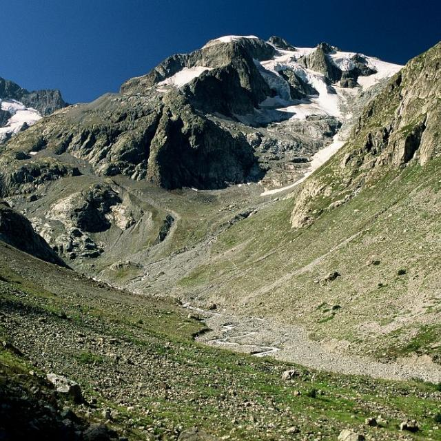 Glacier de la Pilatte - 2003 - reprise de vue E-Thibert - Parc national des Ecrins