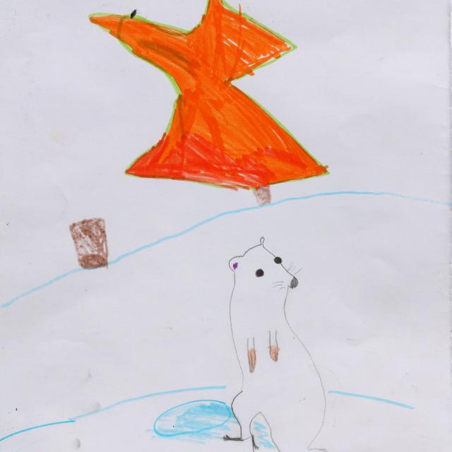 Nelly Colomban-Vitale - 3ème prix 5-7 ans concours dessin hiver 2015 - Parc national des Ecrins