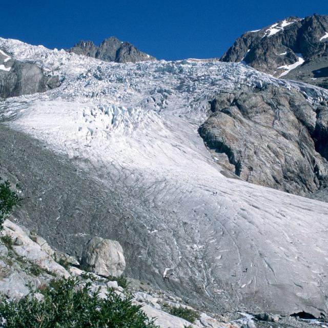 Glacier Blanc 1995 - photo constat Parc national des Ecrins