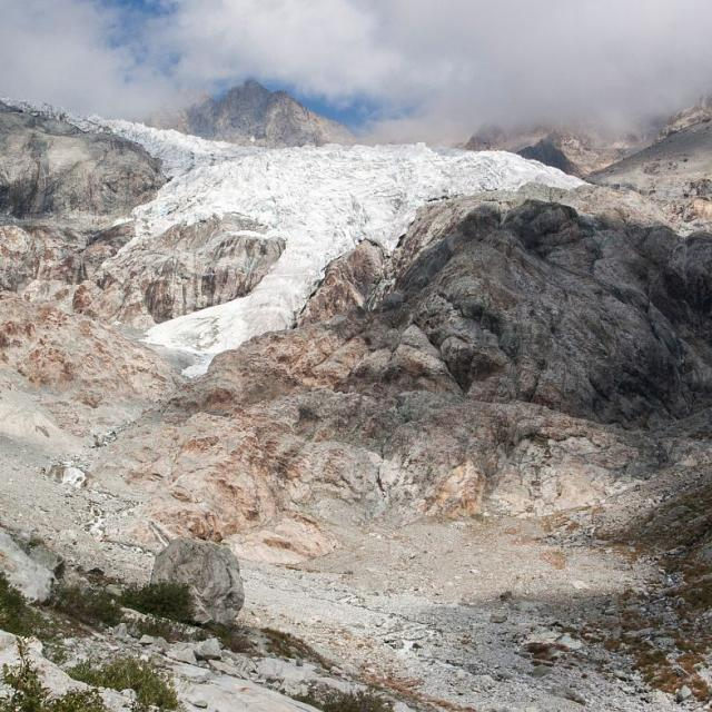 Glacier Blanc 2015 - photo constat Parc national des Ecrins