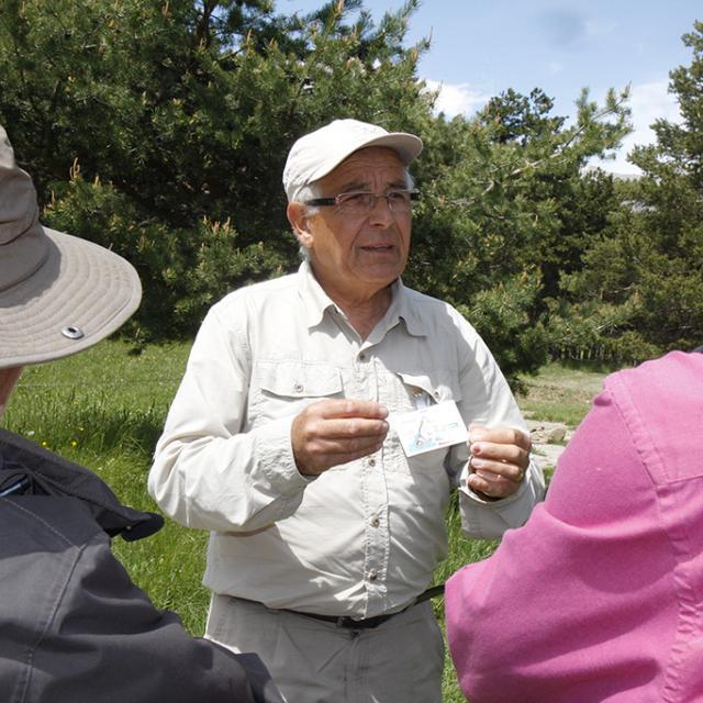 Jacques, mycologie - photo ClG - Parc national des Ecrins