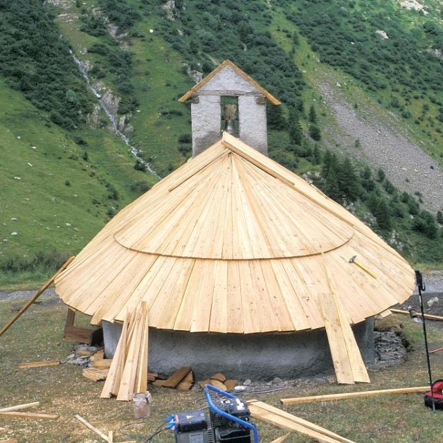 Chapelle de La Saulce - Prapic - restauration © Parc national des Ecrins