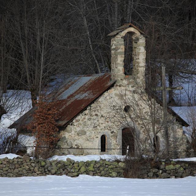 Chapelle des Roranches avant restauration - 2013- © M.Corail - Parc national des Ecrins