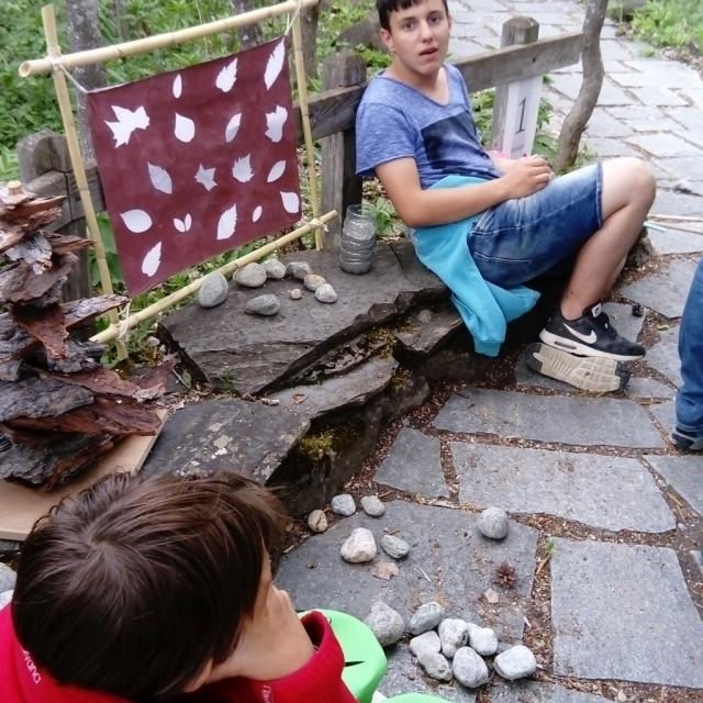 projet art et nature avec l'IME du Briançonnais - juin 2017 - avec le Parc national des Ecrins