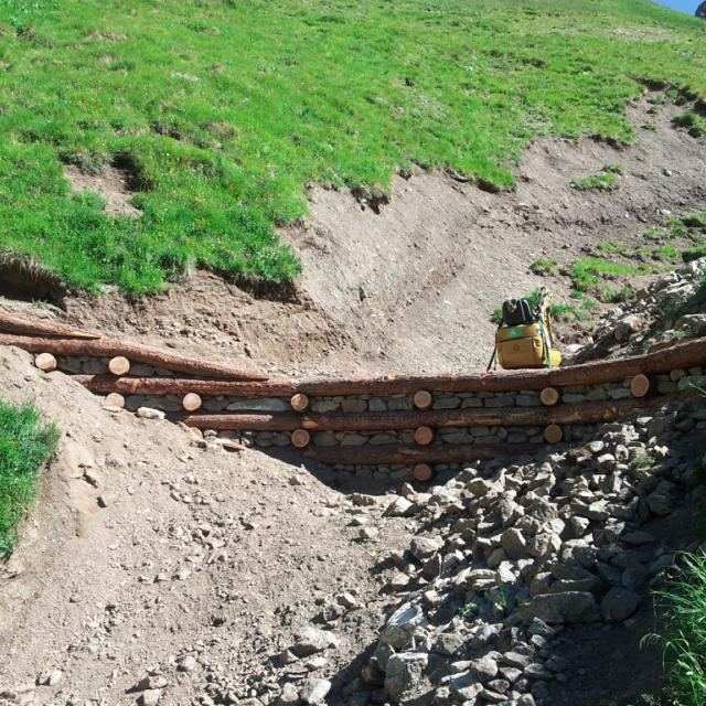 Fin de chantier à Côte belle - © C.Girardon - Parc national des Ecrins