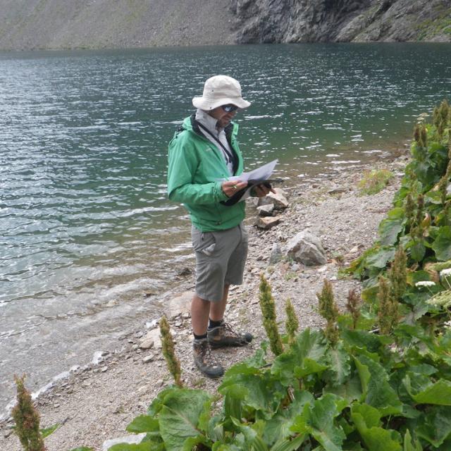 Etude végétation aquatique lacs sentinelle -Plan Vianney - août 2017 - © C.Sagot -Parc national des Écrins