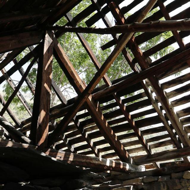 Four Dormillouse sans couverture - Travaux en cours été 2017  ©  Parc national des Écrins