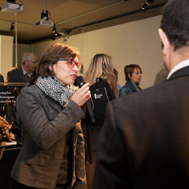Catherine Gauthier, directrice du Muséum - Inauguration exposition Les îles du ciel - 6 octobre 2017 - muséum de Grenoble - © P.Saulay - Parc national des Ecrins