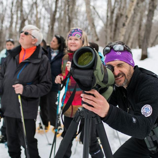 Sortie hiver Esprit parc national avec Fabrice Morin - Oisans - photo E.Rondeau - parcs nationaux de France