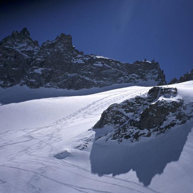 traces de skieurs - © M.Corail - Parc national des Écrins