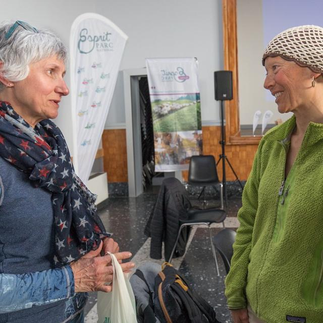 rencontre et échanges entre bénéficiaires de la marque et animateurs de la démarche au Parc national des Ecrins - 3 avril 2018 - Chabottes - © P.Saulay - Parc national des Écrins