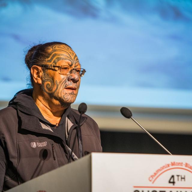 Te Ngaehe Wanikau, chef spirituel Maori - SSC 2018 Chamonix © Nacho Grez