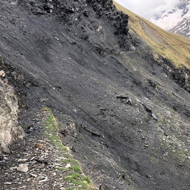 avant travaux sentier des crevasses, mai 2018 © E.Vannard - Parc national des Écrins