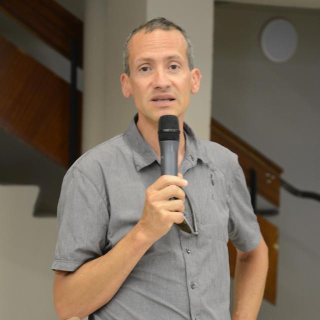 """Nicolas Reynaud, président de la FFCAM - Présentation de la campagne de sensibilisation """"Refuge, on vous donne les clés"""" - Parc national des Ecrins - 9 juillet 2018"""