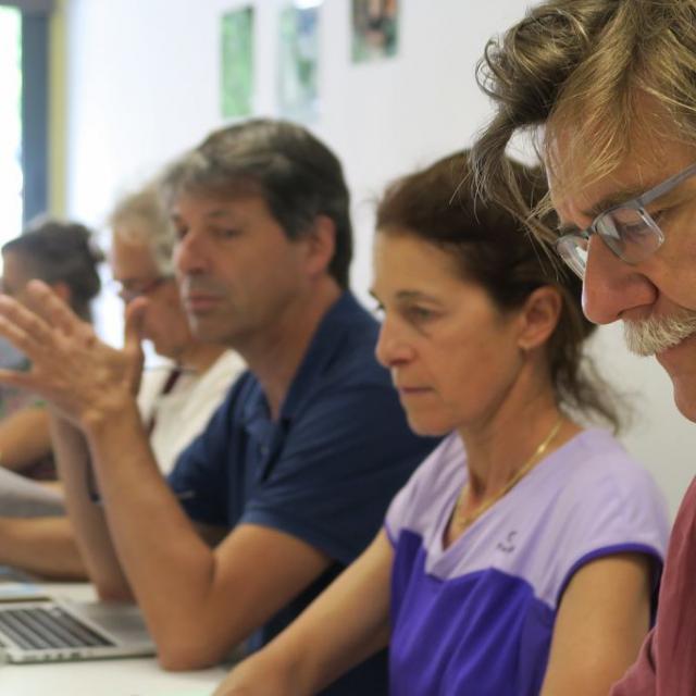 Conseil scientifique en Vallouise 21 et 22 juin 2018 Pré de Mme Carle © Ludovic Imberdis, Parc national des Écrins