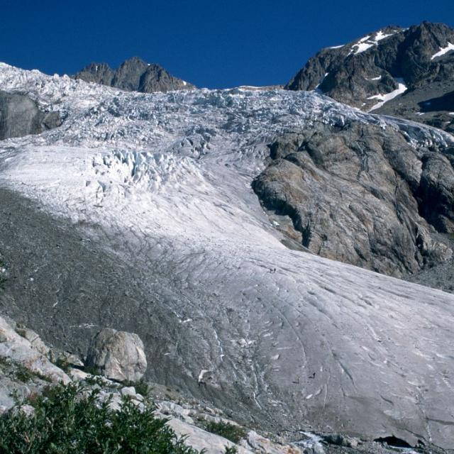 Glacier blanc 1995 - photo Joël Faure - Parc national des Ecrins