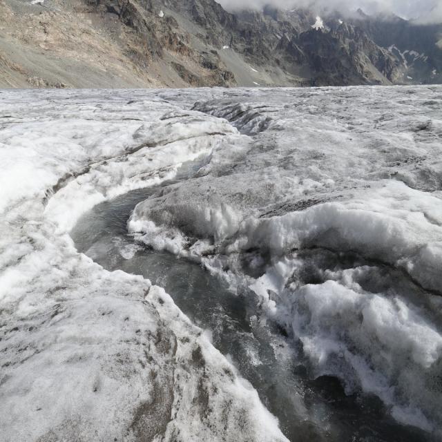 Glacier blanc - septembre 2018 - photo Martial Bouvier - Parc national des Ecrins