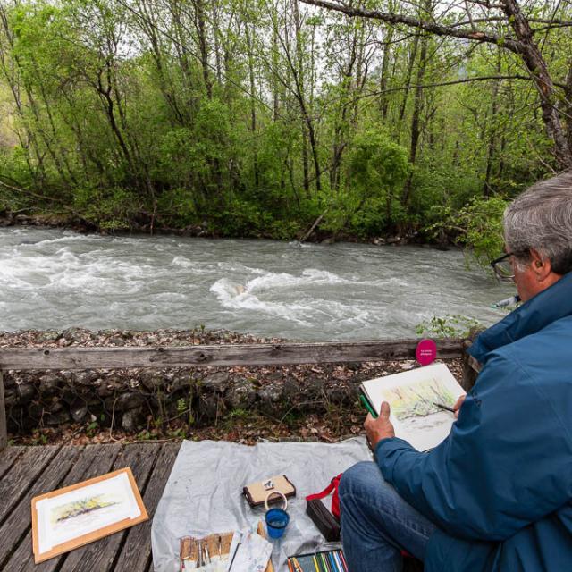 Aquarelle - Ecrins de nature 2019 en Vallouise - © Thierry Maillet -Parc national des Ecrins