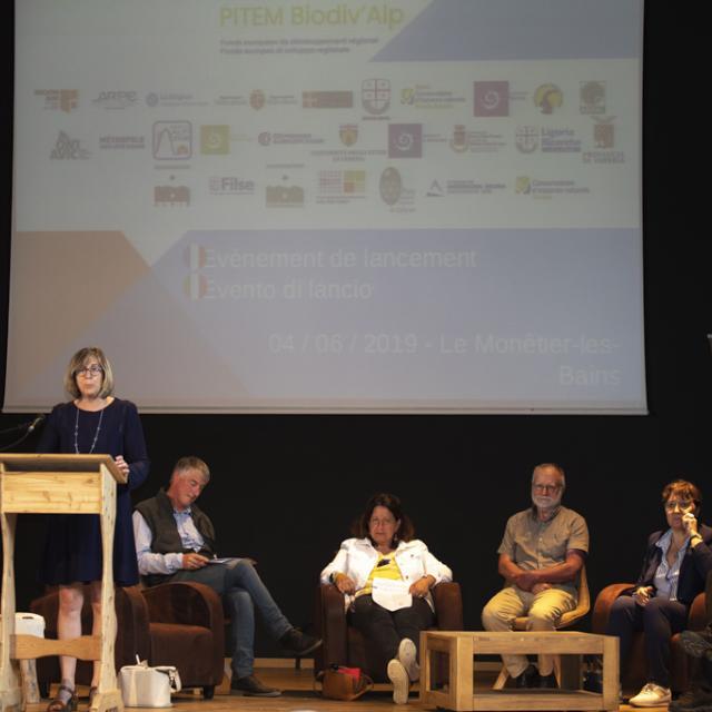 Accueil et discours maire du Monêtier-les-Bains - Lancement Biodiv'alp au Monêtier-les-Bains- 4 juin 2019 - photo P.Saulay - Parc national des Ecrins