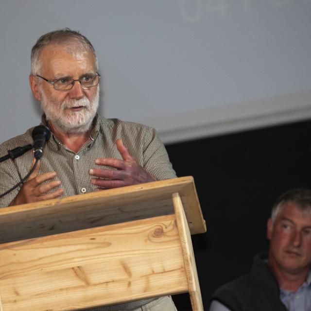 Bernard Héritier, président du Conseil d'administration du Parc national des Ecrins - Lancement Biodiv'alp au Monêtier-les-Bains- 4 juin 2019 - photo P.Saulay - Parc national des Ecrins