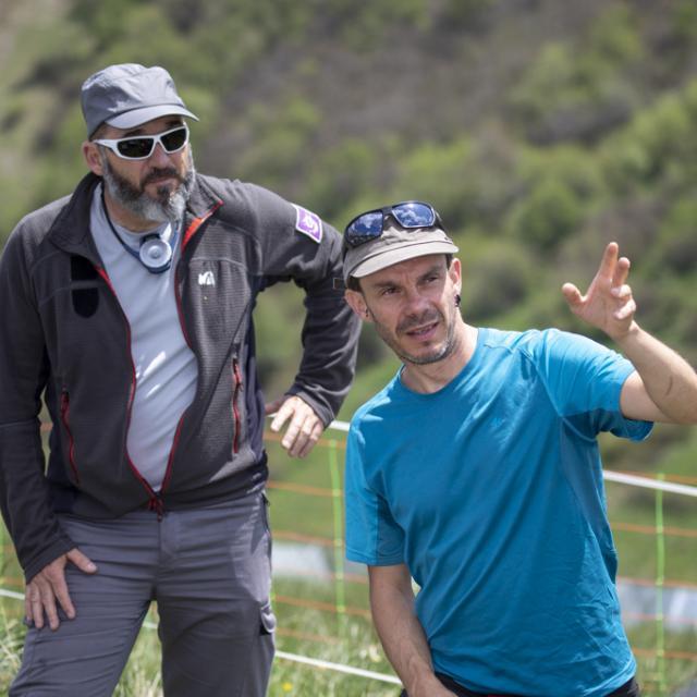 Richard Bonet (PNE) et Wilfried Thuillet (LECA) - Lancement Biodiv'alp au Monêtier-les-Bains- 4 juin 2019 - photo P.Saulay - Parc national des Ecrins
