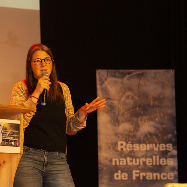 Virginie Maris, chercheuse en philosophie de l'environnement - Congrès RNF  - juin 2019 - photo T.Maillet - Parc national des Ecrins