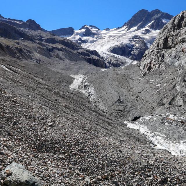 Photo constat 2016, glacier de la Pilatte -Martial Bouvier, PNE