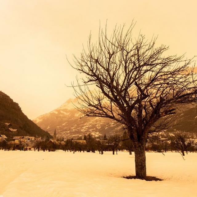 Vallouise avec effet sépia © T. Maillet - PNE