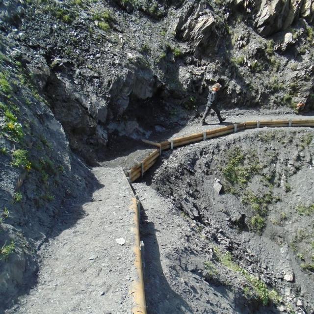 Le sentier des Crevasses après travaux - © S. D'Houwt - PNE