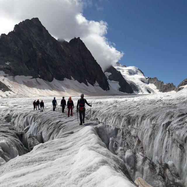 Journées de cohésion au glacier Blanc - © O. Lefrançois - PNE