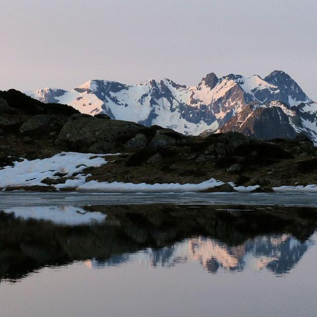 Petit Lac sous le Lac Lautier ©Ludovic Imberdis - Parc national des Ecrins