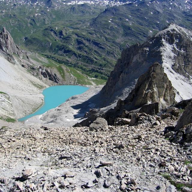 Le lac des Béraudes © Hélène Quellier - Parc national des Ecrins