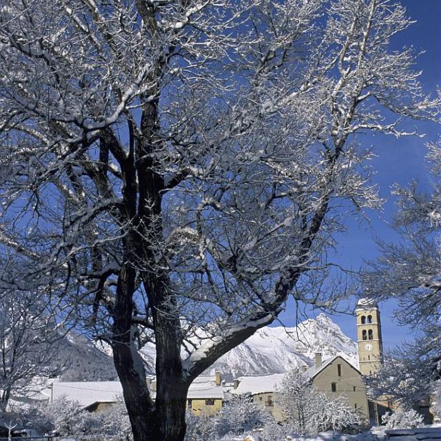 Les Guibertes en hiver © Bernard Nicollet - Parc national des Ecrins