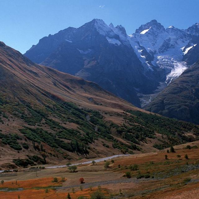 Le glacier du Lautaret vu de la Verzilla ©Parc national des Ecrins