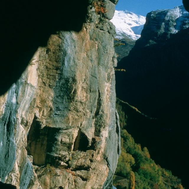 Grotte des Vaudois à Freissinières ©Robert Chevalier - Parc national des Ecrins