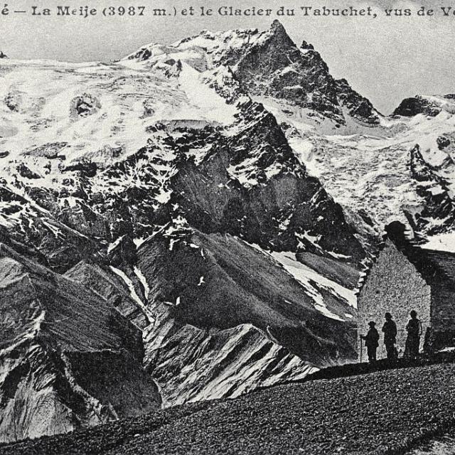 La Meije (3987 m) et le glacier du Tabuchet, vus de Ventelon - collection - Parc national des Ecrins