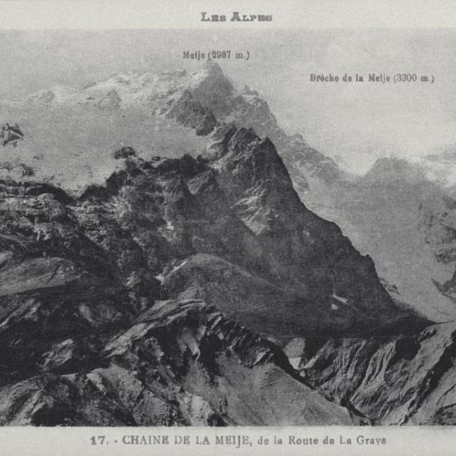 La chaîne de la Meije de la route de la Grave - collection - Parc national des Ecrins