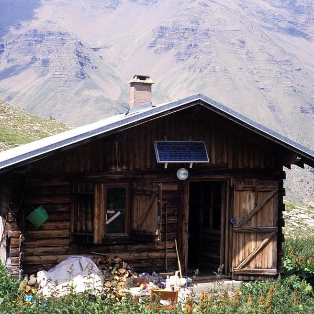 Nouvelle cabane de Palluel © Manuel Meester - Parc national des Ecrins