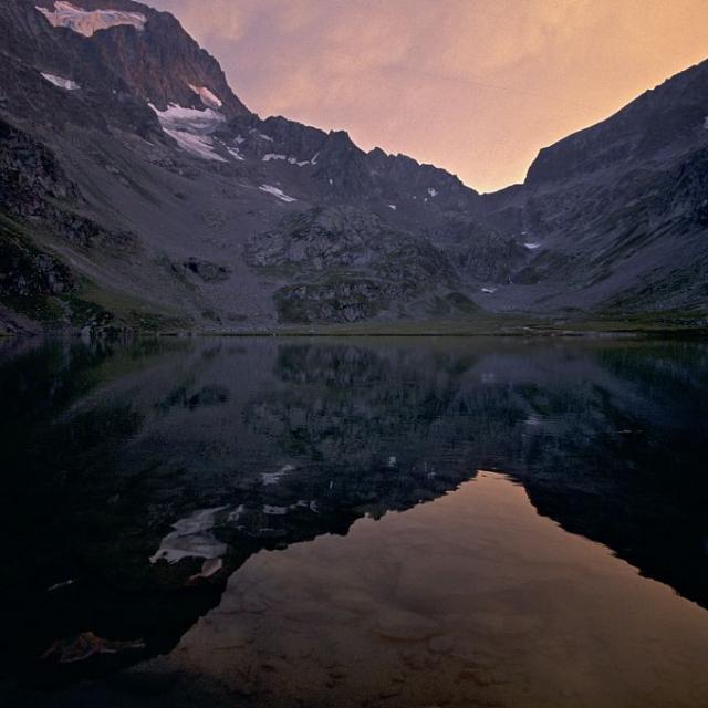 Lac Muzelle et Muzelle © Claude Dautrey - Parc national des Ecrins